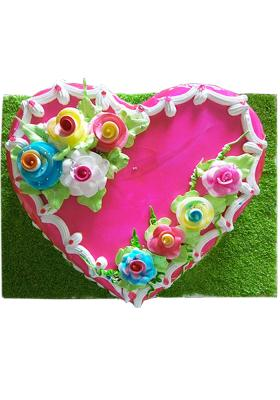 Citystore.in, Flavour Cake, Heart Shape Strawberry Cake , City Store