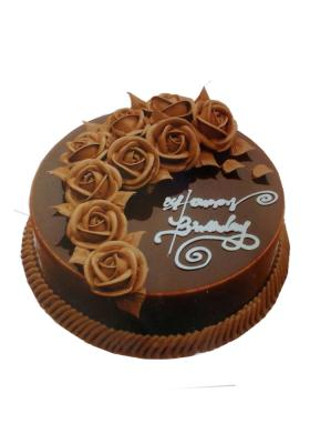 Citystore.in, Flavour Cake, Round Shape Dark Brown Chocolate Cake , City Store