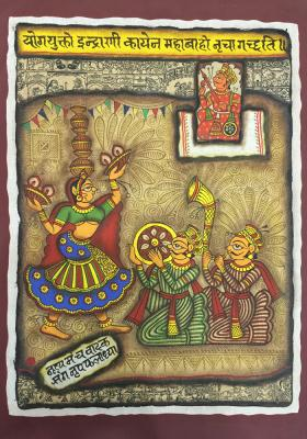 Citystore.in, Art & Paintings, Phad-Painting-colag-size-14x18{banjara-dance}, Phad Painting