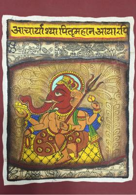 Citystore.in, Art & Paintings, Phad-Painting--size-8x9.5{ganesh-ji}, Phad Painting