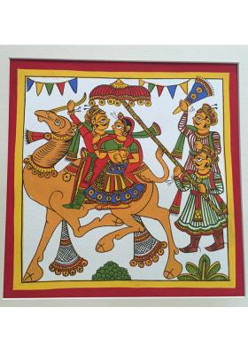 Citystore.in, Art & Paintings, Phad-painting--size10.5x10.5inches{dhola-maru-lovers}, Phad Painting