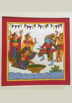 Citystore.in, Art & Paintings, Phad-Painting--size-10.5x10.5{Natkhat-Krishna}, Phad Painting