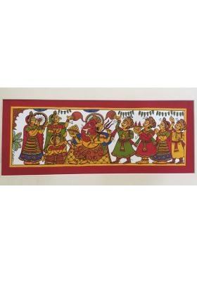 Citystore.in, Art & Paintings, Phad-Painting--size-14x8{ganesh-pooja}, Phad Painting