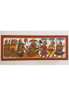 Citystore.in, Art & Paintings, Phad-Painting--size-14x8inches{ganesh-vandana}, Phad Painting