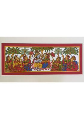 Citystore.in, Art & Paintings, Phad-Painting--size-14x8{krishna-leela}, Phad Painting