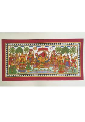 Citystore.in, Art & Paintings, Phad-Painting--size-16x28{ganpati-pooja}, Phad Painting