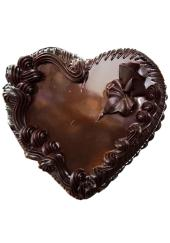 Citystore.in, Flavour Cake, Heart Shape Dark Brown Chocolate Cake 2 , City Store,