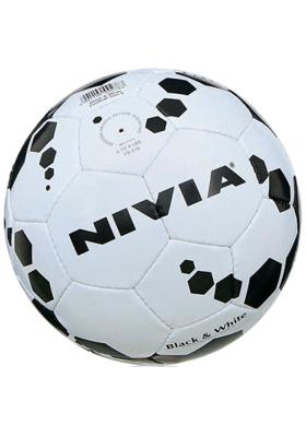 Nivia FB 278 Black & White Size 5 Football