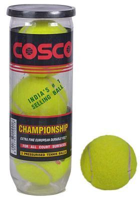 Cosco Championship Tennis Ball(Pack of 3 Balls)
