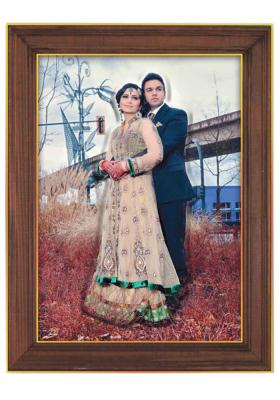 Emboss Photo With Wood Frame 25(10*15 inch)