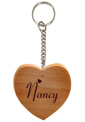 Wooden Heart Key Chain