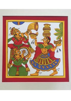 Phad-painting--size10.5x10.5inches{Banjara-dance}
