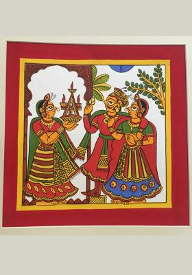 Phad-Painting--size-10.5x10.5{welcomes-new-married-couple}