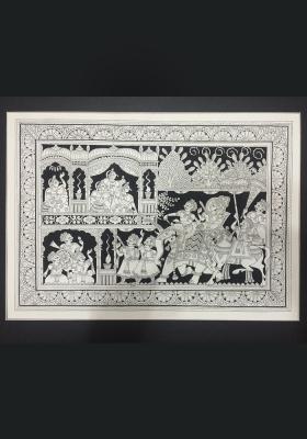 Phad-Painting--size-13x17{radha-krishna-ki-holi}