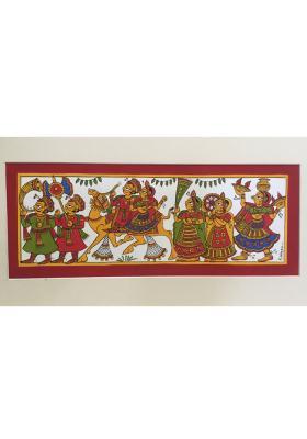 Phad-Painting--size-14x8inches{camal-saffari}