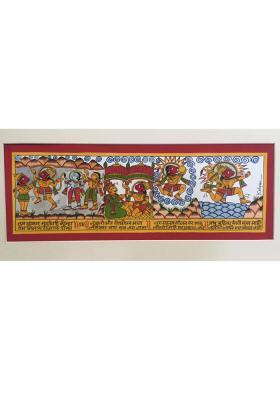 Phad-Painting--size-14x8{hanuman-chalisa}