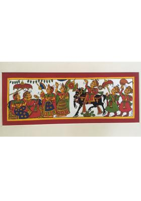 Phad-Painting--size-14x8{prince-meeting-with-king}